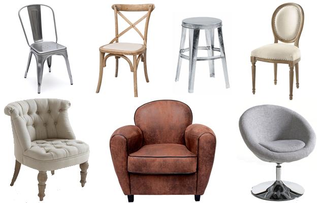 Jolis fauteuils et chaises pour la maison