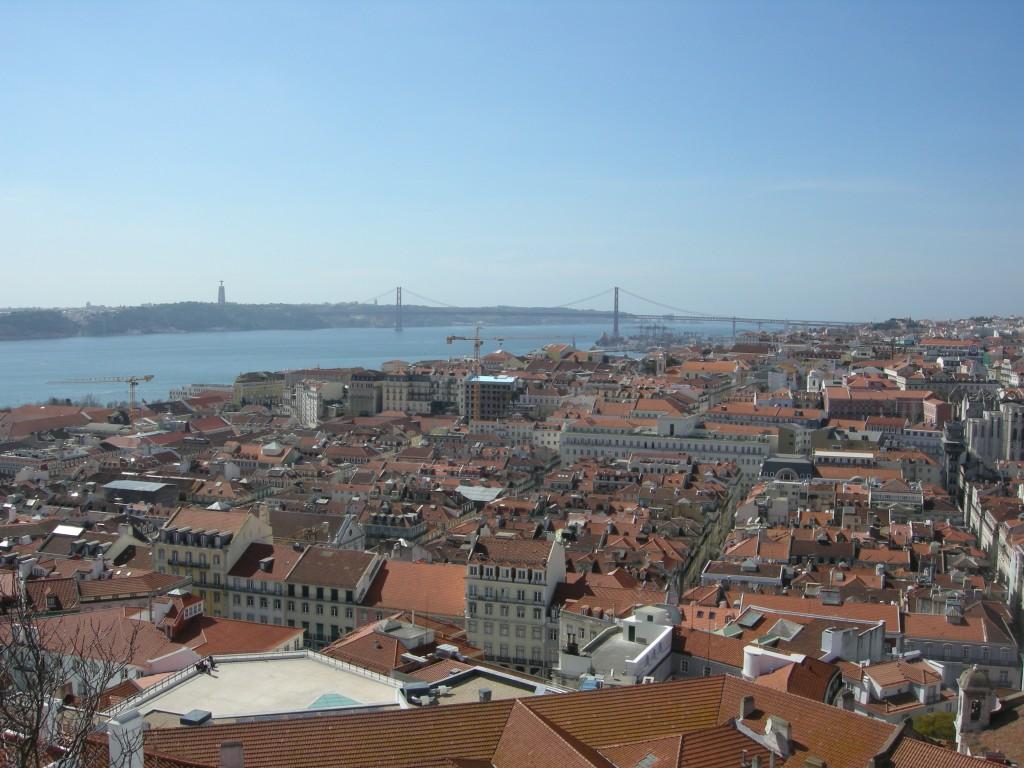 Vue de Lisbonne depuis le château Sao Jorge