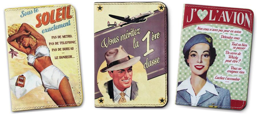 Protège passeport rétro vintage - Natives : Déco rétro & vintage