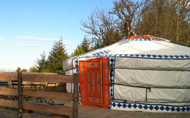 Autour de Lyon : Dormir dans une yourte au parc du Pilat