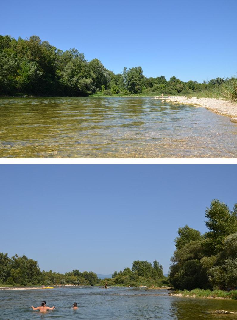 Baignade sauvage près de Lyon : la rivière d'Ain