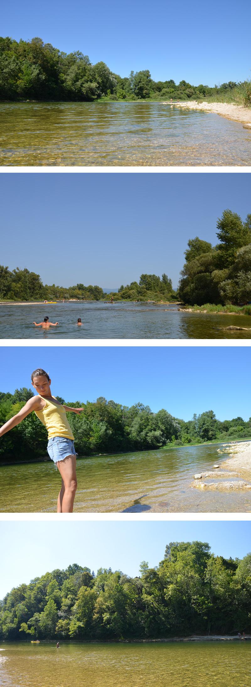 La rivière d'Ain à Priay