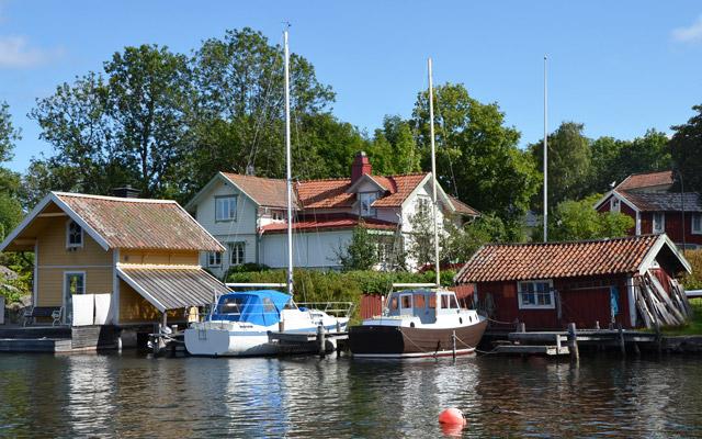Vaxholm, petite ville paisible dans l'archipel de Stockholm
