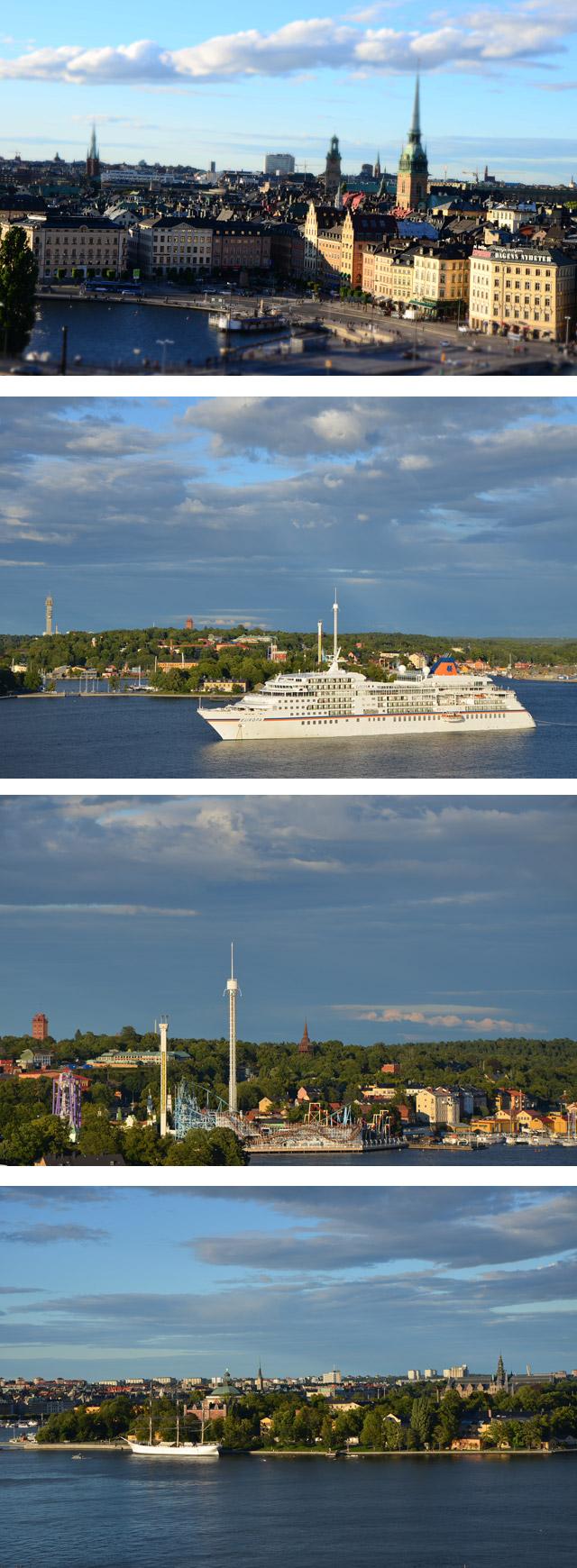 Vue Stockholm depuis le café théâtre de Mosebacke