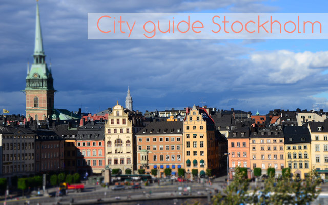 City guide stockholm