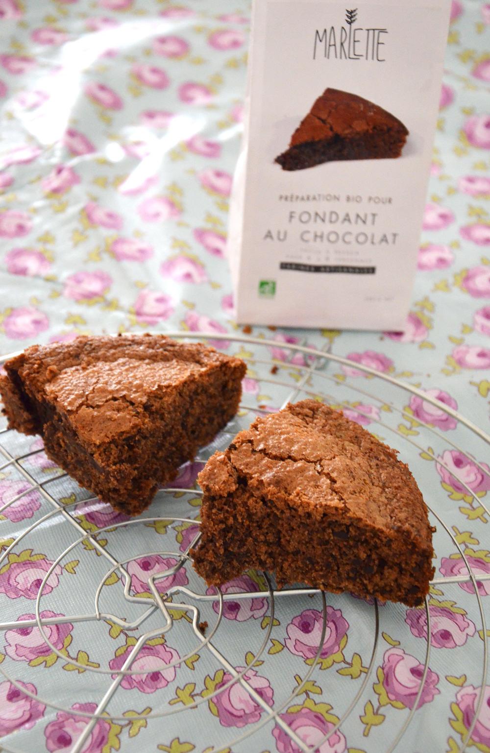 Marlette : préparation bio fondant au chocolat