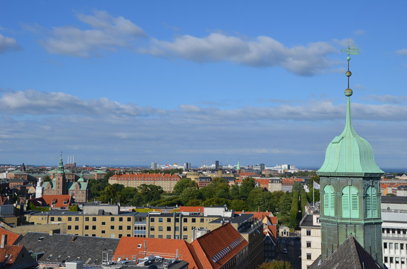Vue panoramique de Copenhague