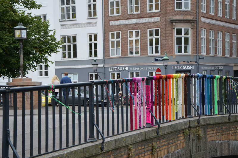 Yarn bombing à Christianshavn