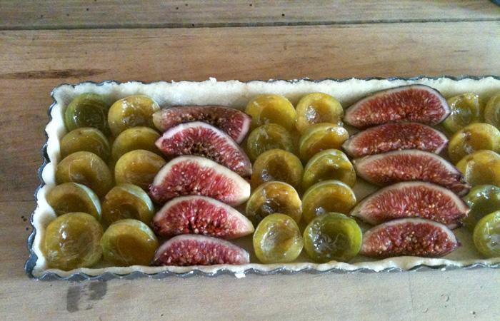 Tarte prunes figues