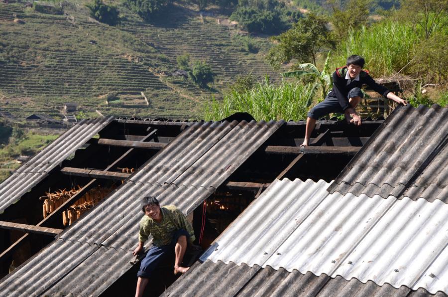 Maison de notre guide Chi près de Sapa