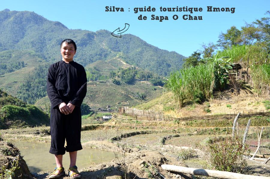 Silva, notre guide touristique Hmong de l'agence Sapa O'Chau - Trek Vietnam du nord