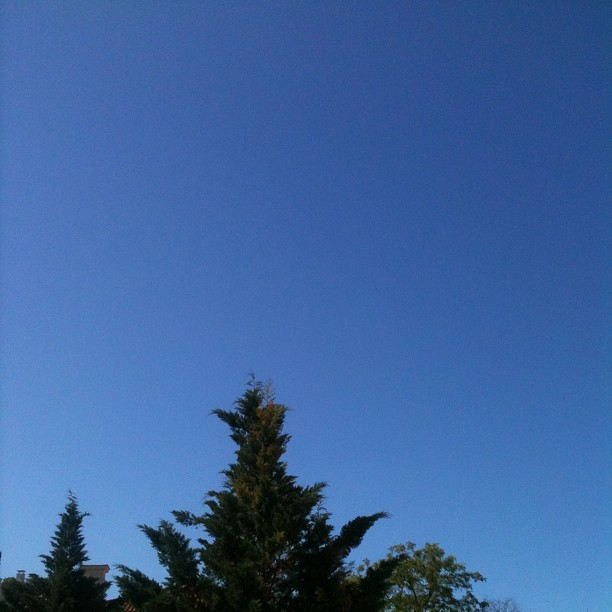 Un ciel bleu sans nuages !