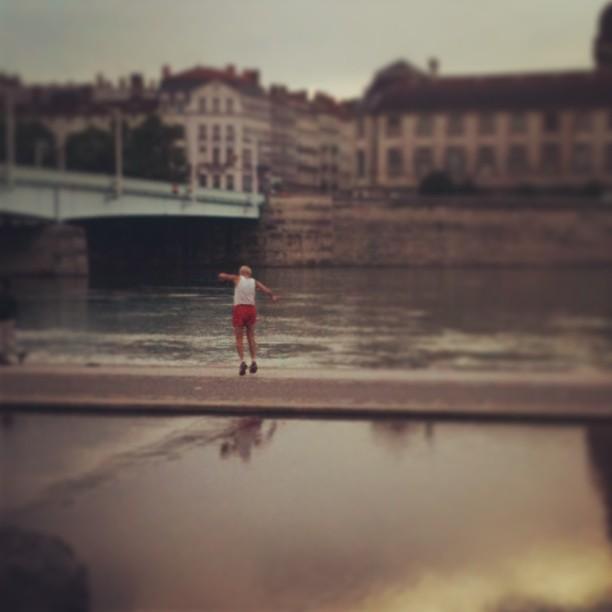 Apéro sur les quais du Rhône à Lyon