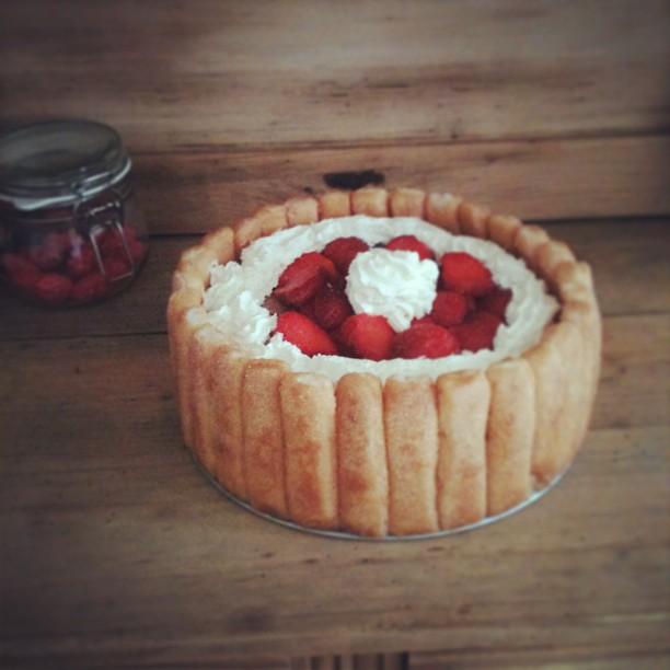 Charlotte aux fraises et au mascarpone