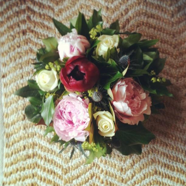 Atelier floral Clesa, fleuriste à Lyon - Composition florale de pivoines