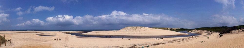 Embouchure du courant d'Huchet - Moliets plage / Landes