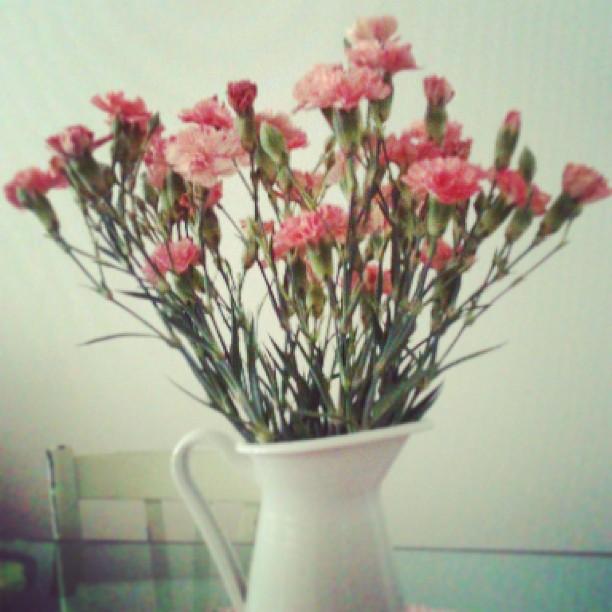 Recevoir un bouquet de fleurs
