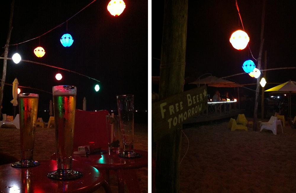 Bar sur la plage à Phu Quoc