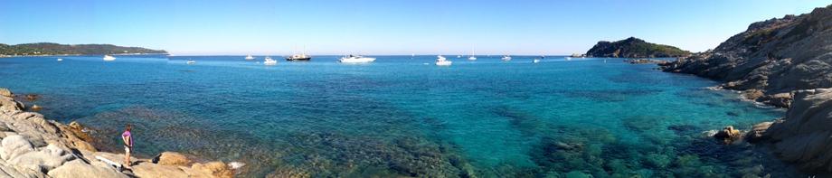 Plage sauvage à Ramatuelle - Côte d'Azur