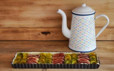 Tarte aux figues et aux prunes