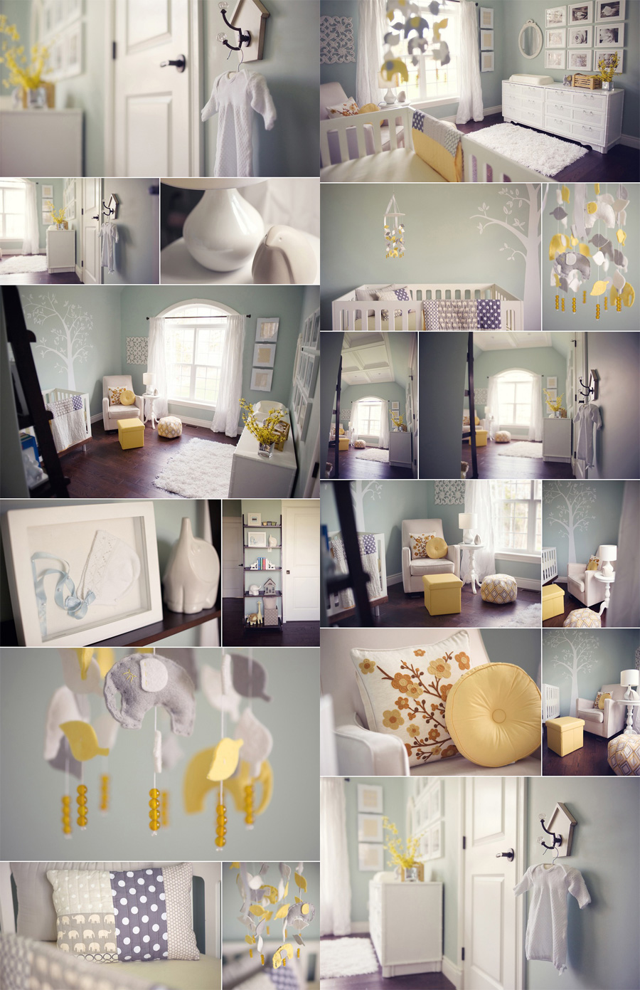 Decoration Gris Jaune Et Blanc