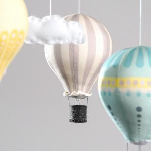 Mobile Montgolfière bébé : le tuto - Blog maman déco & DIY