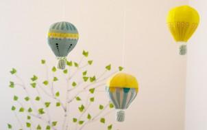 DIY DECO : mobile de montgolfières pour la chambre de bébé