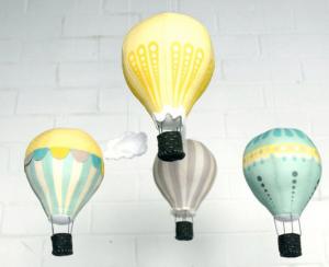 DIY Déco : Mobile de montgolfières pour la chambre de bébé