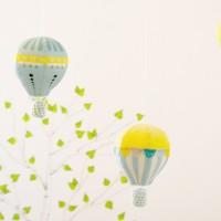 ✄ DIY : un mobile bébé montgolfières ✄