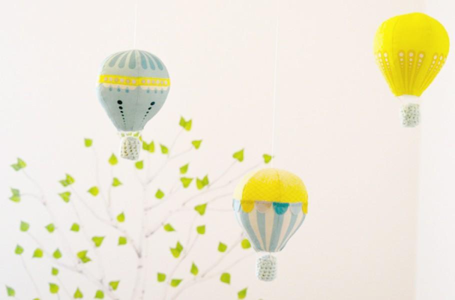 DIY : Mobile de montgolfières
