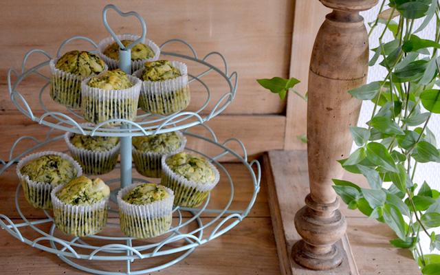 Muffins vegetariens epinards