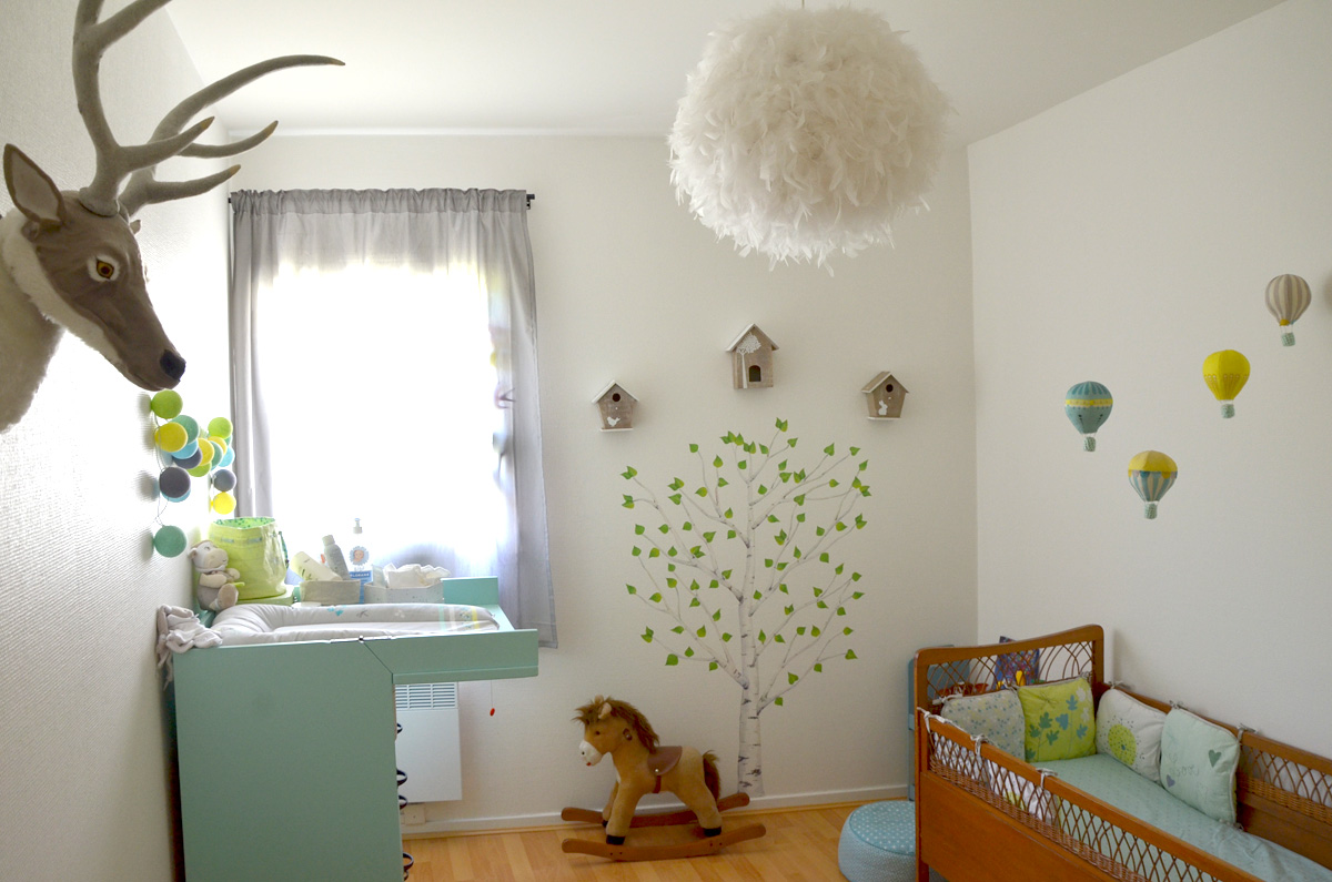 D co chambre gar on nature for Chambre de bebe garcon deco