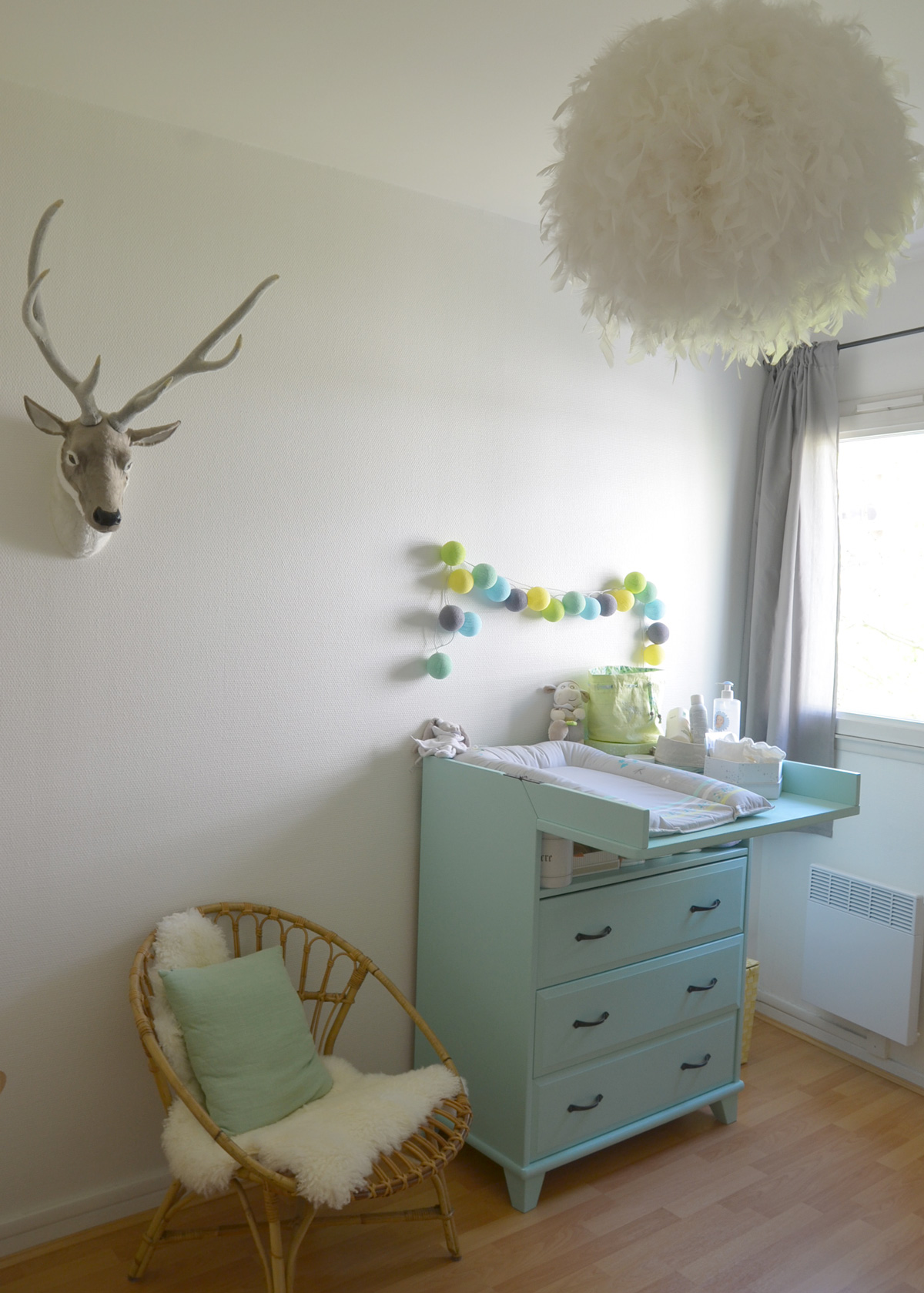 Pin d co chambre b b on pinterest - Decoration chambre bebe ...