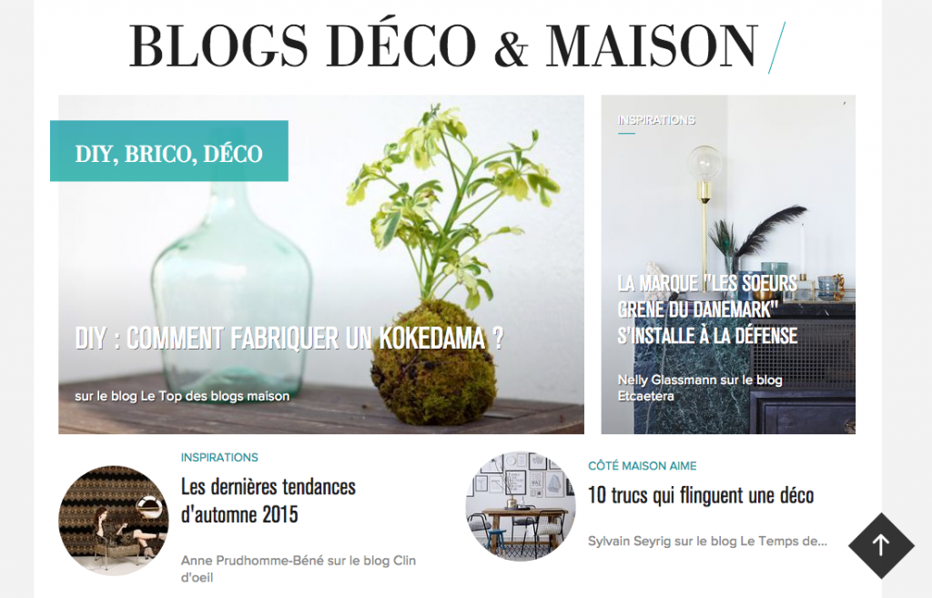 Le blog sur Côté Maison