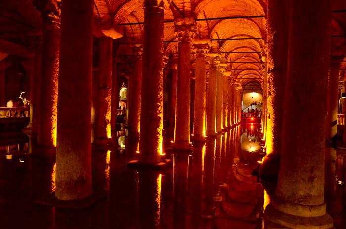 La citerne basilique à Istanbul