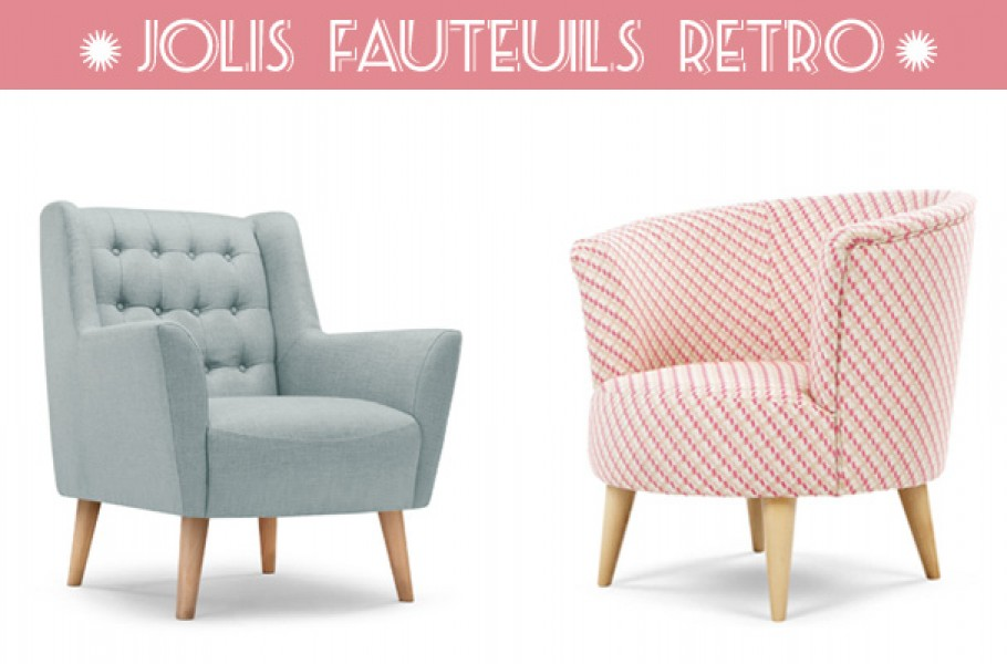 Déco rétro les jolis fauteuils vintage de Made Blog déco