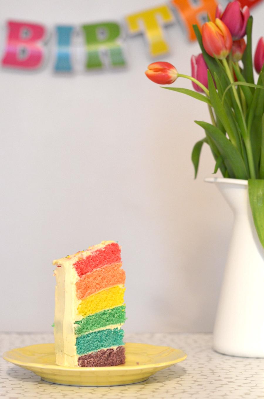 Recette du gâteau arc-en-ciel - Rainbow cake
