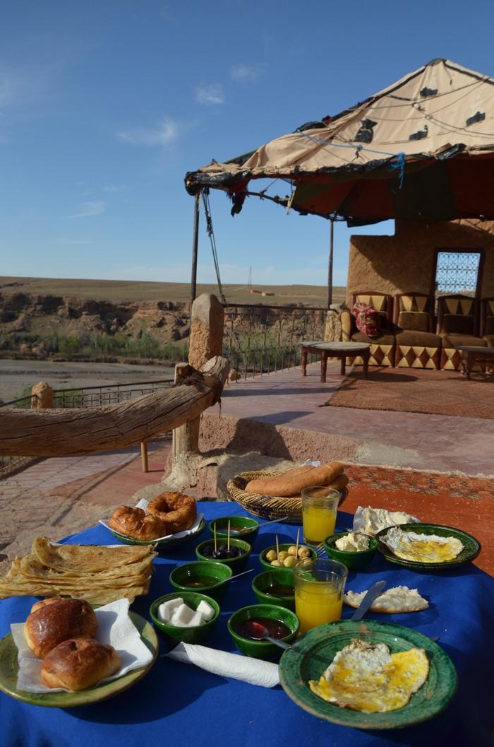 Petit déjeuner au Maroc