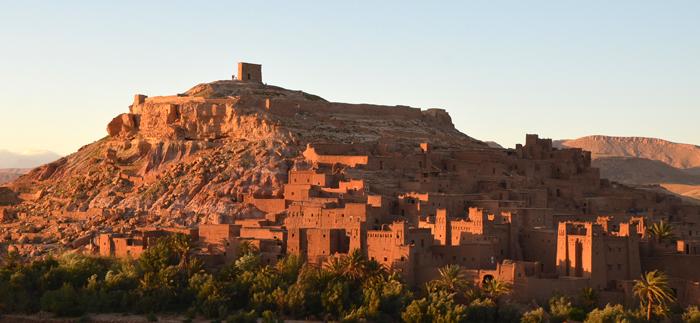 Le coucher de soleil sur le ksar d'Aït Ben Haddou