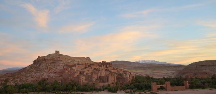 Le lever de soleil sur le ksar d'Aït Ben Haddou