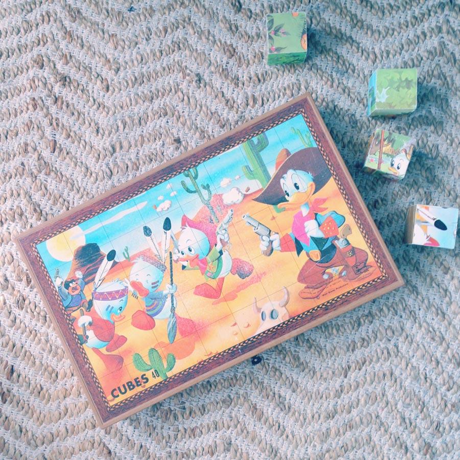 Chiner les cubes de mon enfance