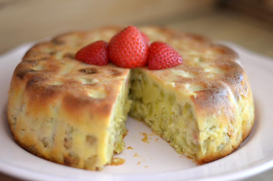 Gâteau à la rhubarbe