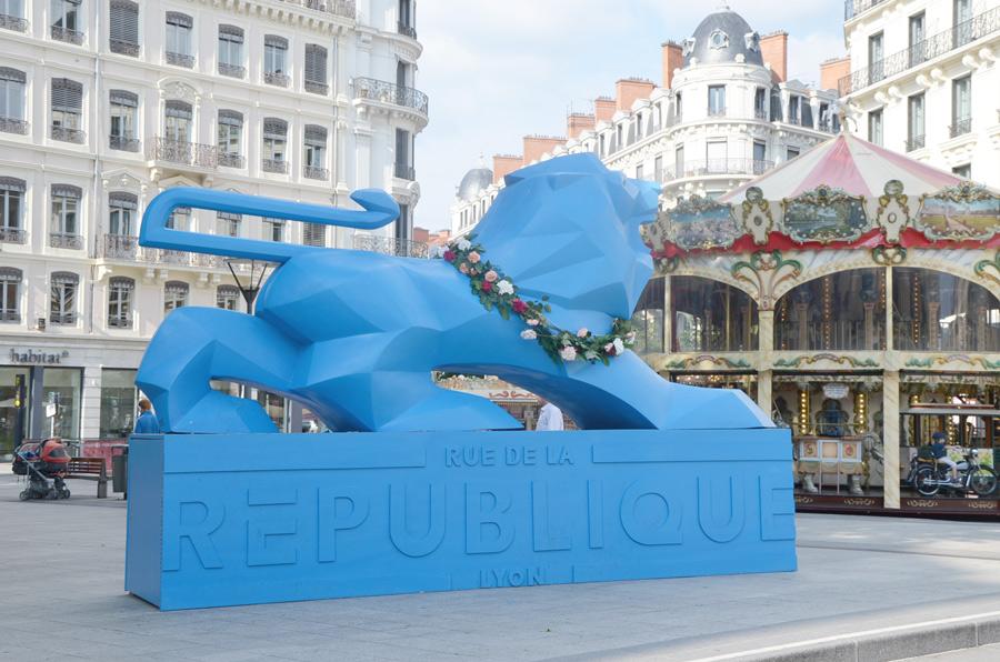 Festival des roses à Lyon : place de la République