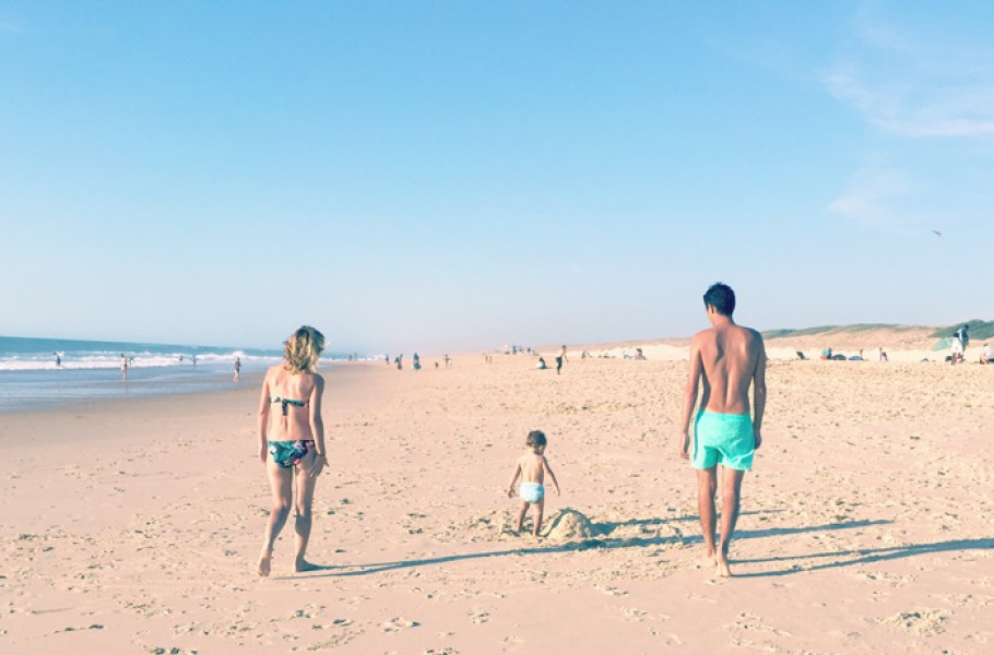 Nos premières vacances à 3 à l'océan