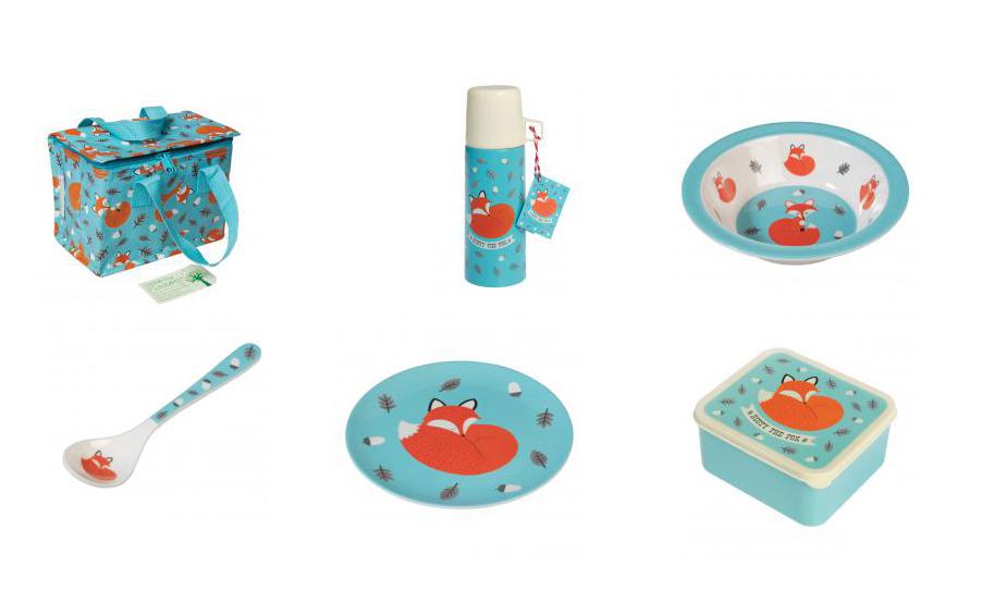 Tendance renard pour les petits : vaisselle