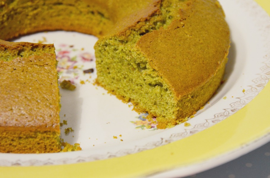 Cake au thé matcha