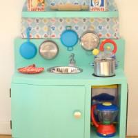 DIY : une cuisine enfant vintage à petit prix !