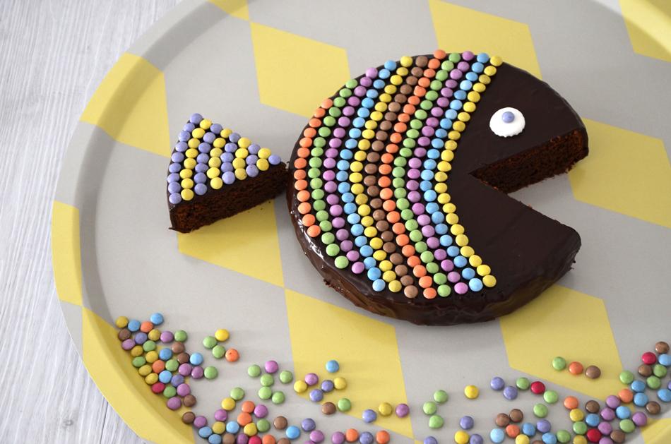 Gâteau anniversaire poisson