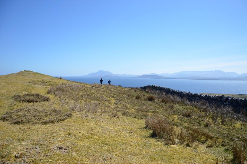 Les paysages et la vue depuis Clare Island