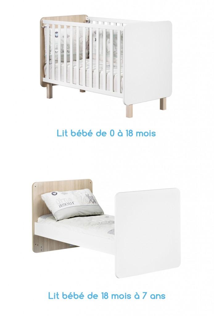 Lit bébé évolutif Nest de Sauthon